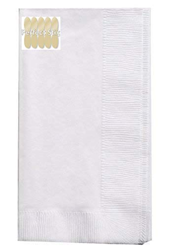 Perfect Stix 2 Ply White Dinner Napkins - Pack of 150ct
