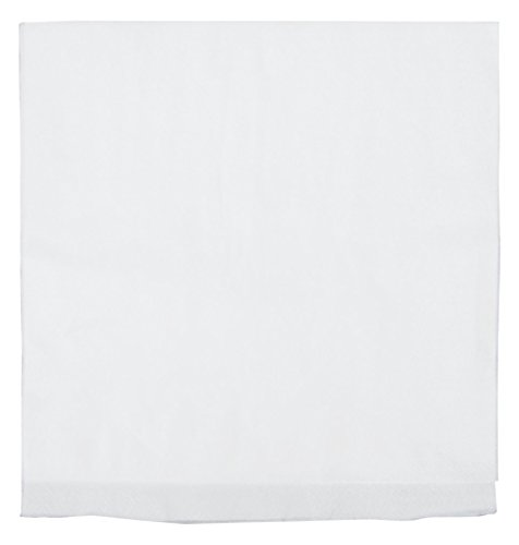 "Perfect Stix White Dinner Napkin QT-250ct 2-Ply White Dinner Napkins with 1/4 Fold, 16""x 16"", 0.1"" Height, 16"" Width, 16"" Length (Pack of 250CT)"