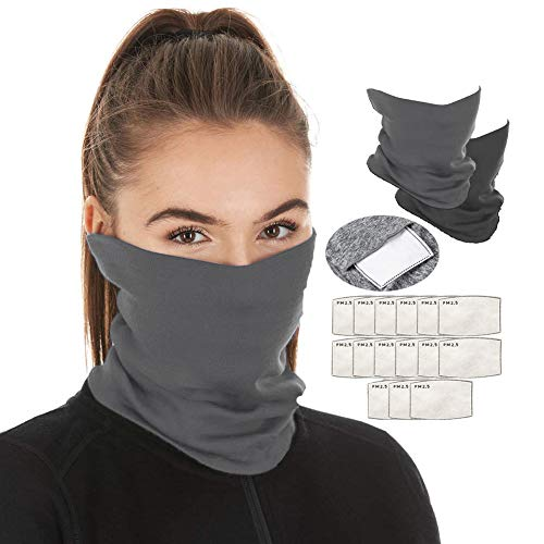 Scarf Bandanas Neck Gaiter Multi-Purpose Balaclava Headwear for Outdoor Sports (Gray)