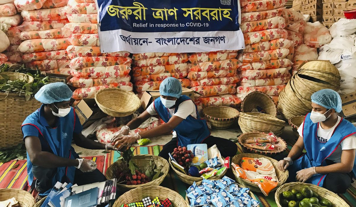 Bangladeshi group sends cards, baskets to COVID-19 patients 1