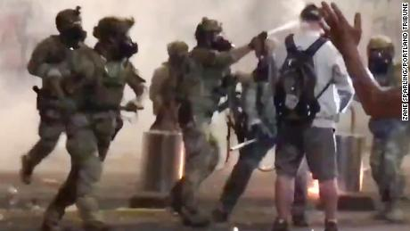 A 75-year-old Vietnam veteran was pepper-sprayed in the face during protests in Portland 1