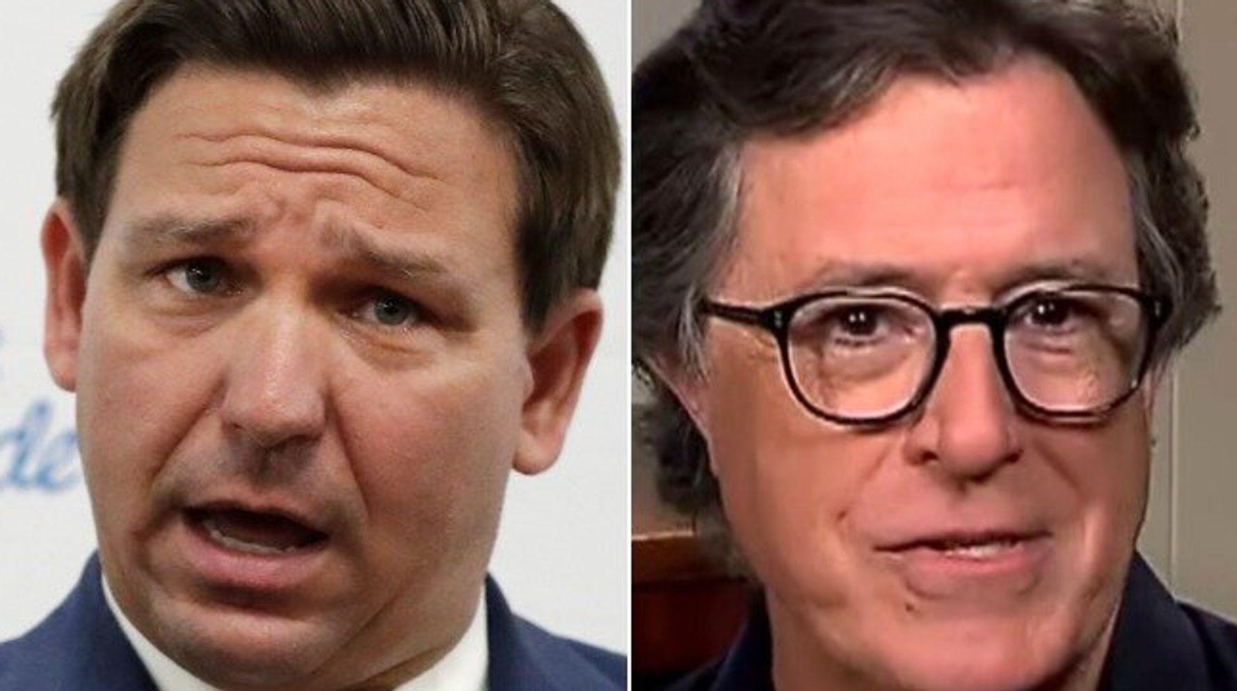 Colbert Taunts Florida's 'Blip-For Brains' Governor Over Coronavirus Screwups 1