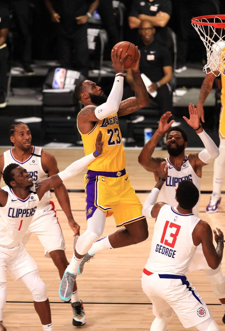 Watch LeBron James Live Up To His Legend In NBA Reopener 1