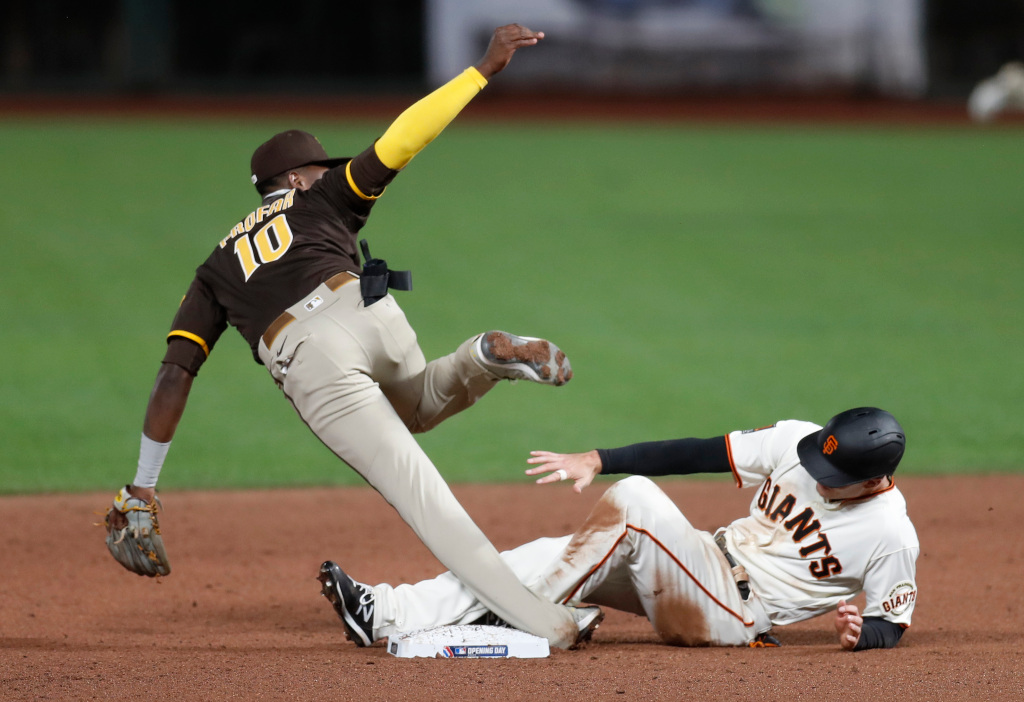 SF Giants home opener lacks drama, lineup lacks a spark in loss to Padres 1