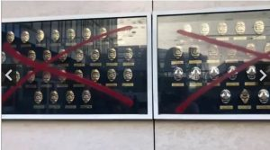 """""""Peaceful protesters"""" vandalize memorial honoring police officers killed in the line of duty 1"""