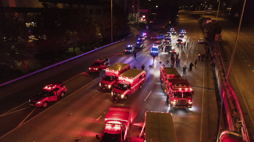 Police: 2 women hit by car on Seattle highway amid protests 1