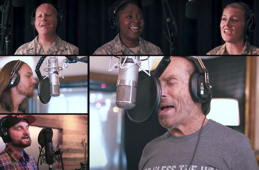 Lee Greenwood's New 'God Bless The USA' Rendition Reaches Peak Patriotism With Home Free And US Air Force 1