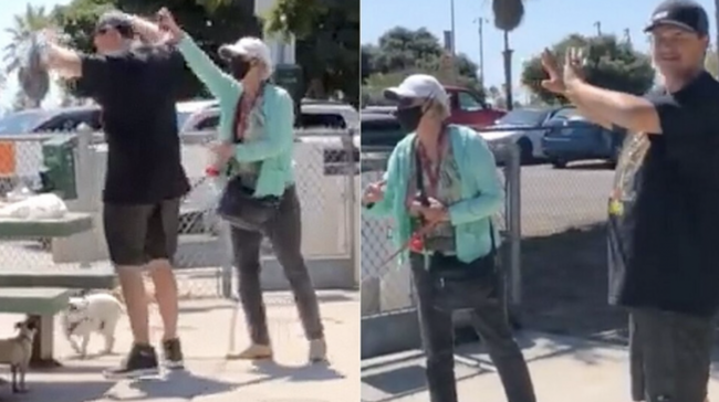 Unhinged Woman Pepper Sprays Man For Not Wearing Facemask In Public Park 1