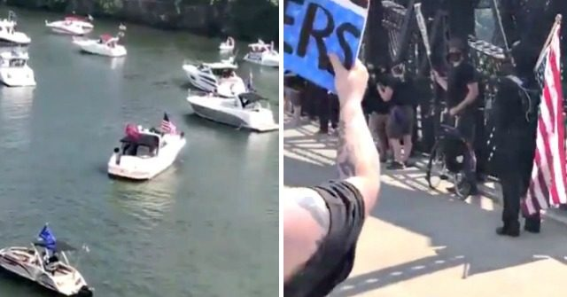 VIDEO: Protesters, Trump Supporters Clash During July 4th Boat Parade in Pittsburgh 1