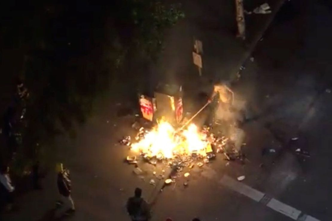 Antifa Rioters Set Off Explosive Fireworks Aimed at Portland Courthouse 1
