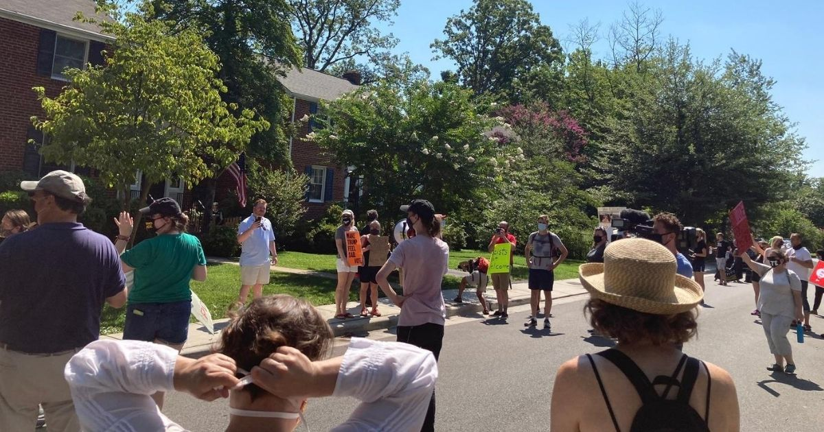 Leftist Protesters Target DHS Secretary's Home, Shout 'Who's Afraid of the Big Bad Wolf?' 1