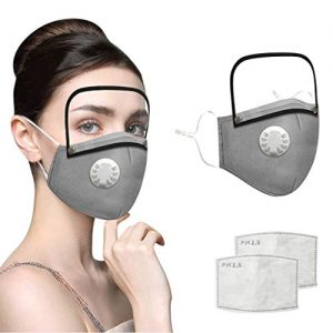 Face Mask with Removable Eye Shield 14