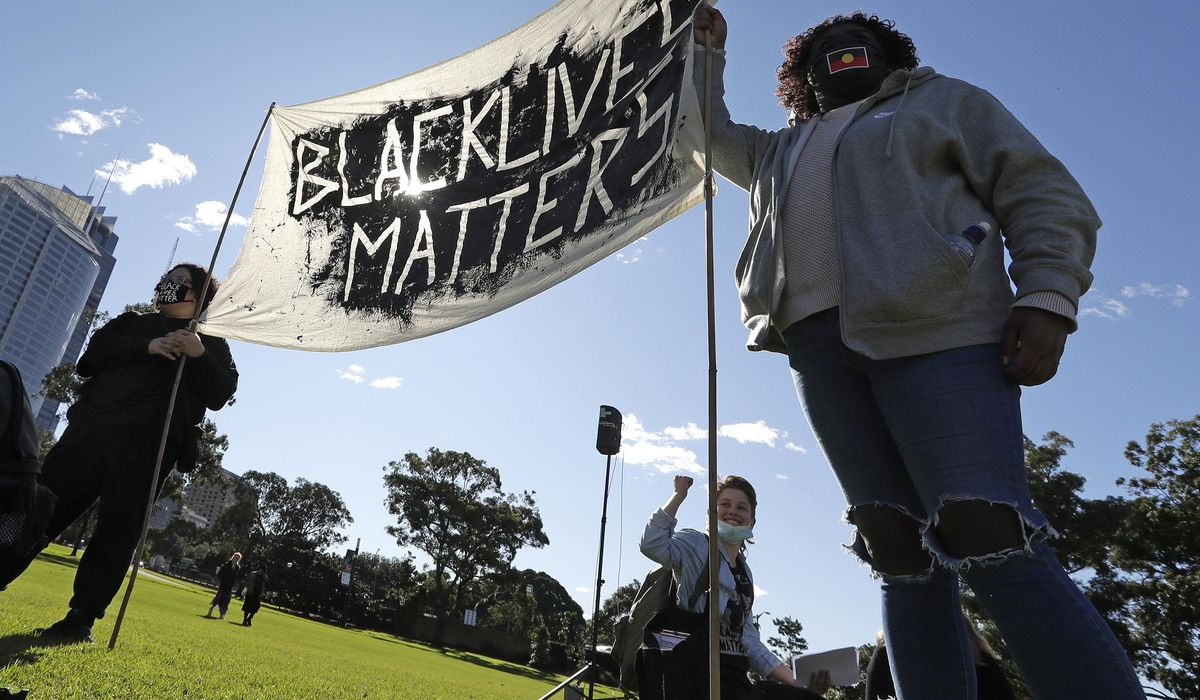 Thousands rally at Black Lives Matter protests in Australia 1