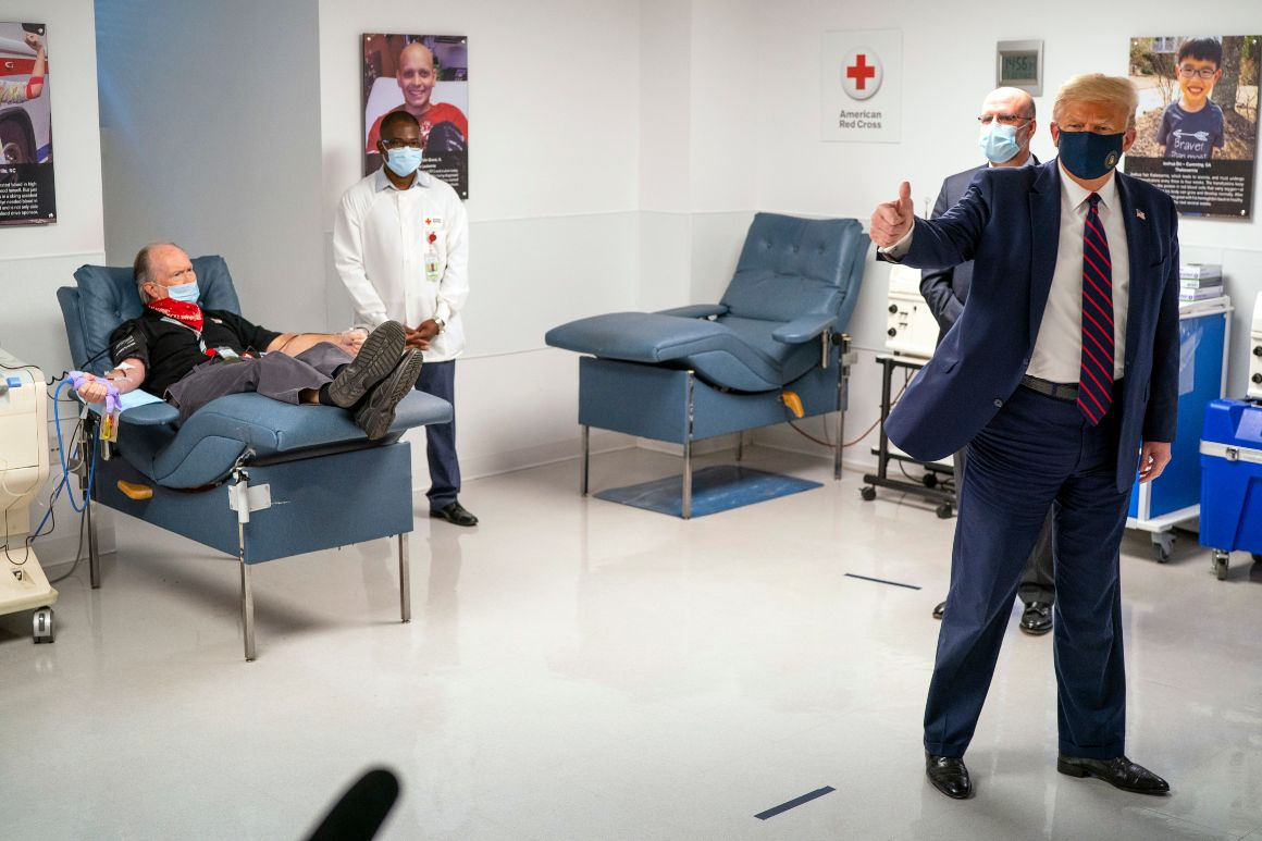 Trump calls on Covid-19 survivors to donate blood plasma 1