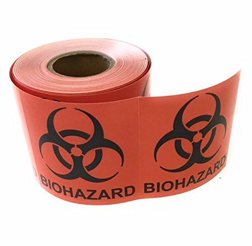 "Biohazard Warning Label, 2"" x 2"", 250 Labels Per Roll, Coated Paper, Universal Biohazard Symbol, Self-Adhesive"