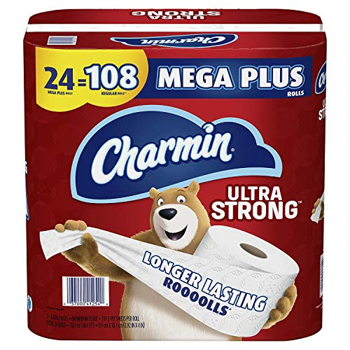 Charmin Ultra Strong Toilet Paper 24 Mega Plus Roll