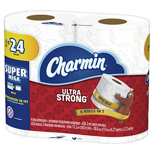 Charmin Ultra Strong Toilet Paper 4 Super Mega Roll