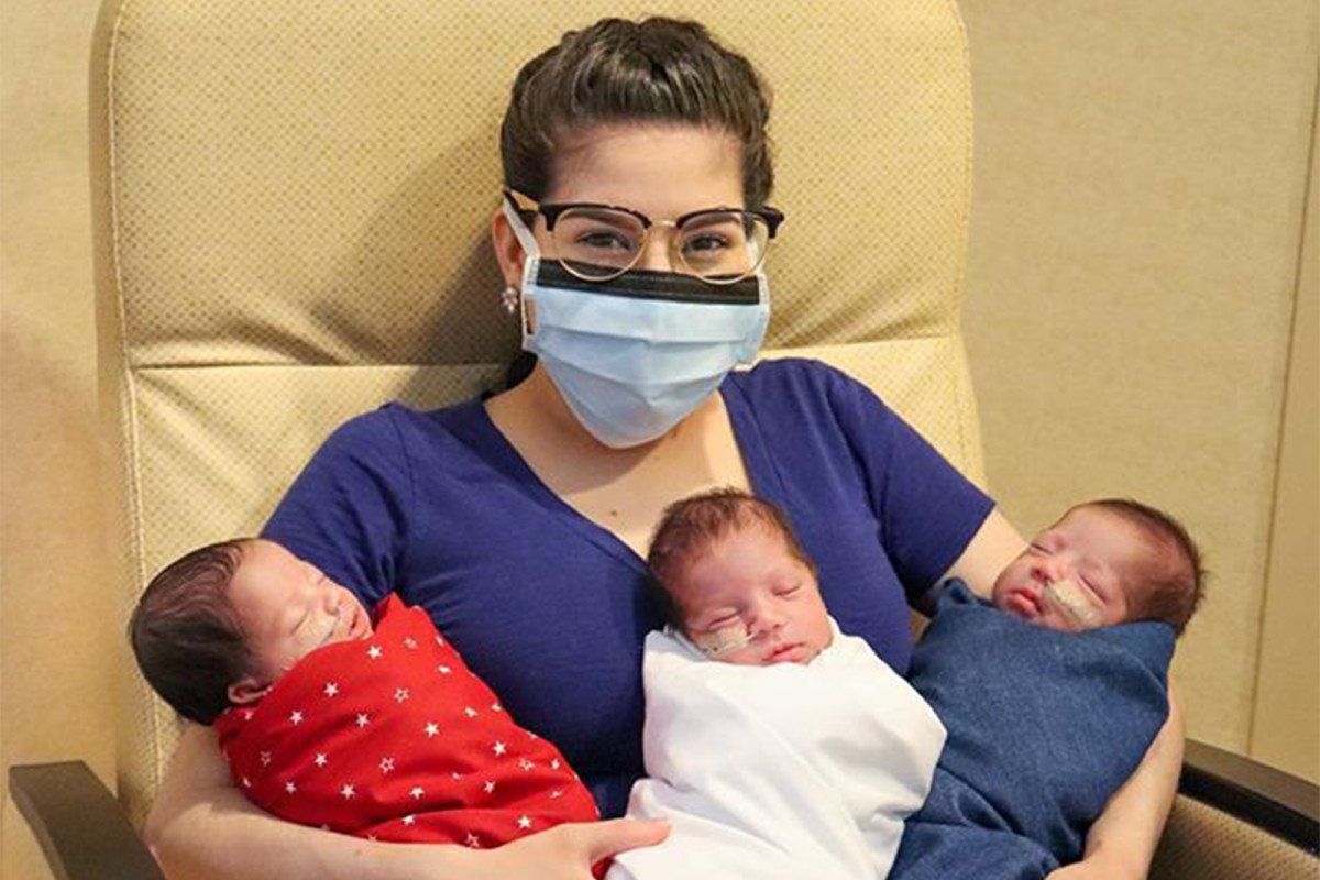 Texas woman beats coronavirus — then delivers healthy triplets 1