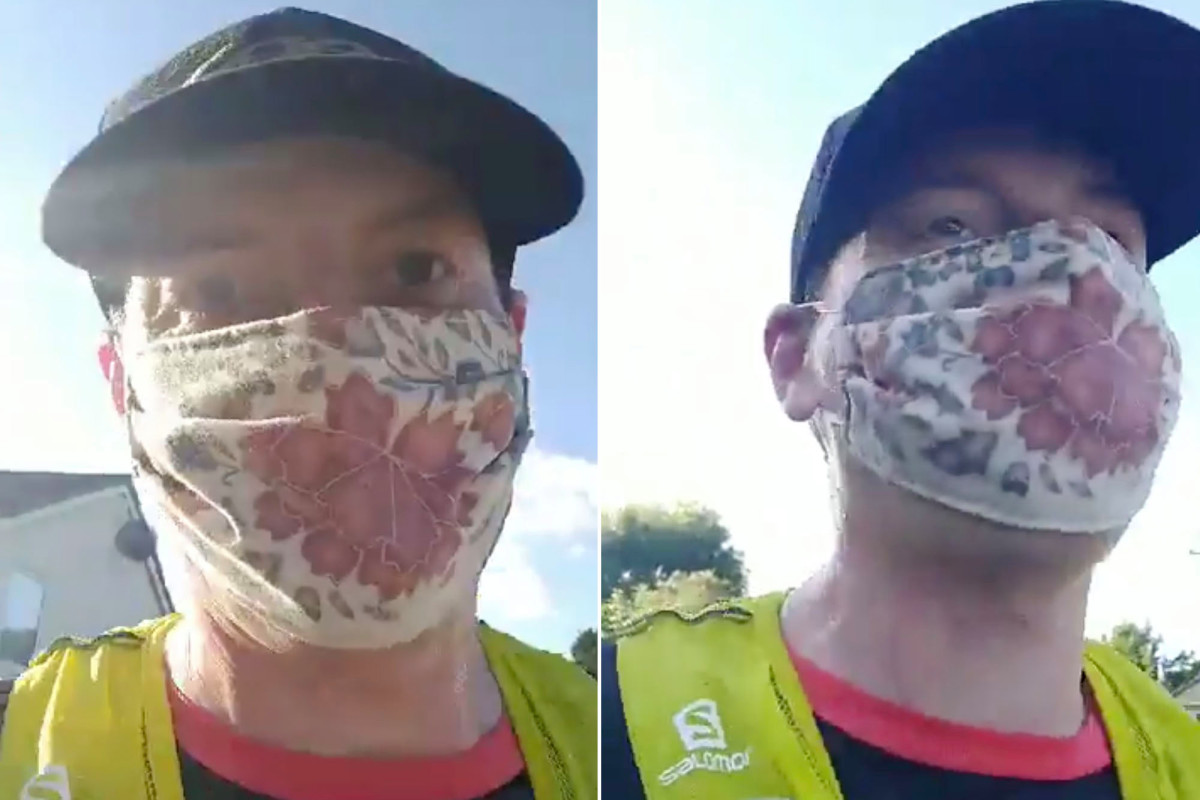 UK doctor ran 22 miles with face mask to debunk this myth 1