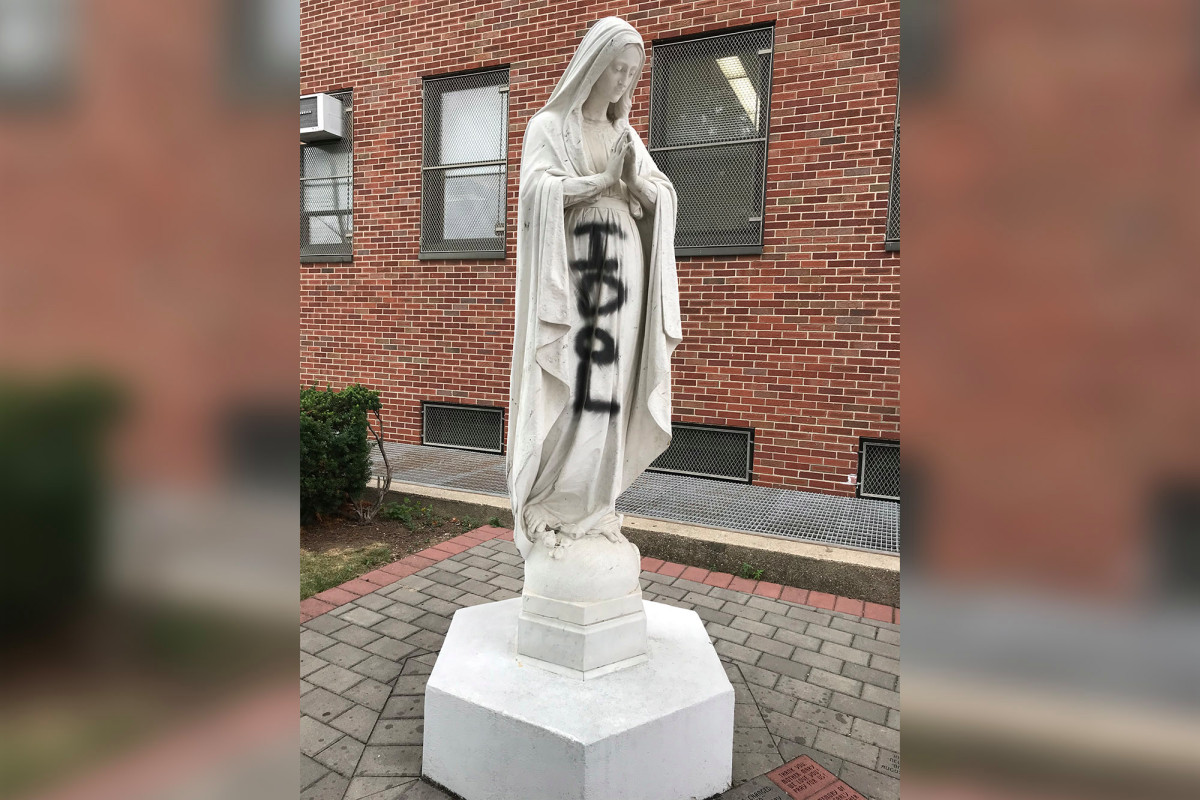 When they're going after the Virgin Mary, you know protest has turned to madness 1