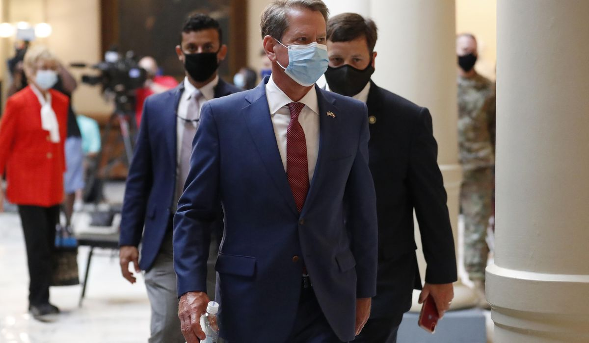 Georgia governor backs out of hearing on Atlanta mask order 1