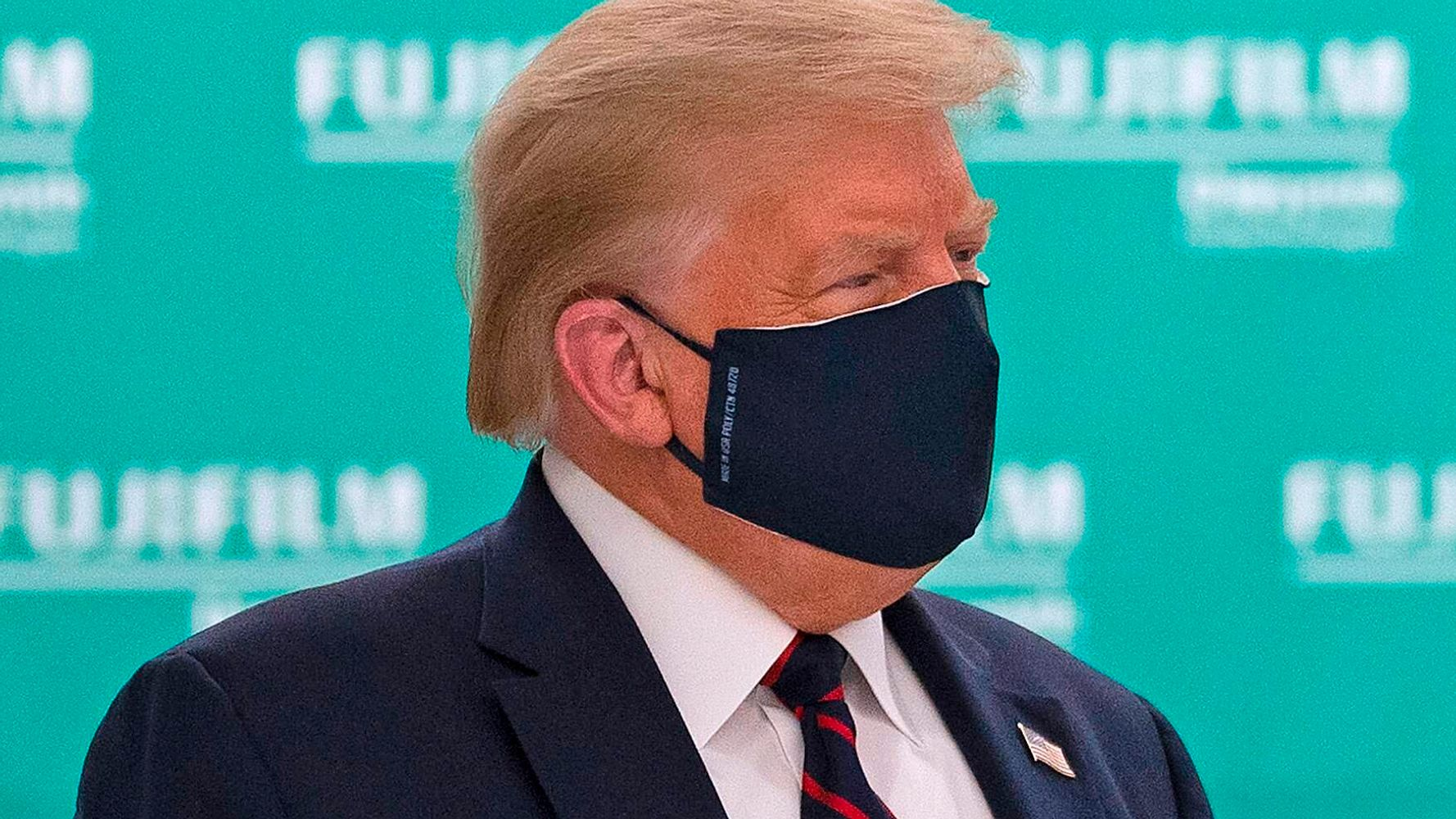 'The Daily Show' Reveals What Trump Says Behind His Coronavirus Face Mask 1