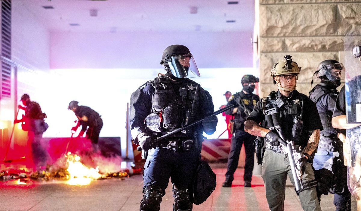 Portland protests grow violent again 1