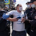 Thousands in Russia's Far East protest governor's arrest 8
