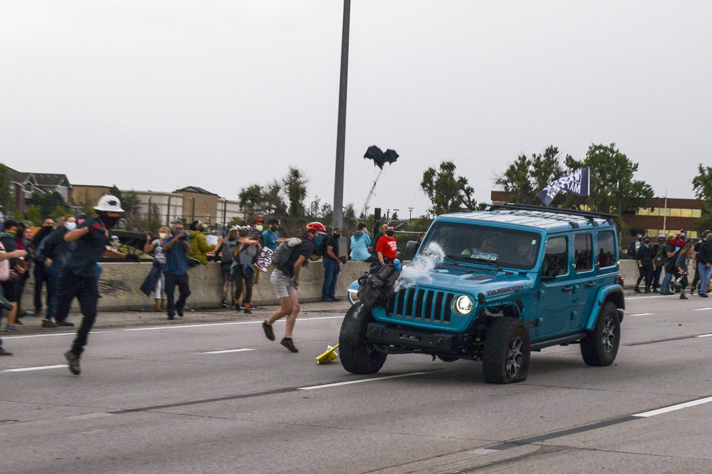 Jeep that ran through BLM protest got lost on way to airport, passenger says 1