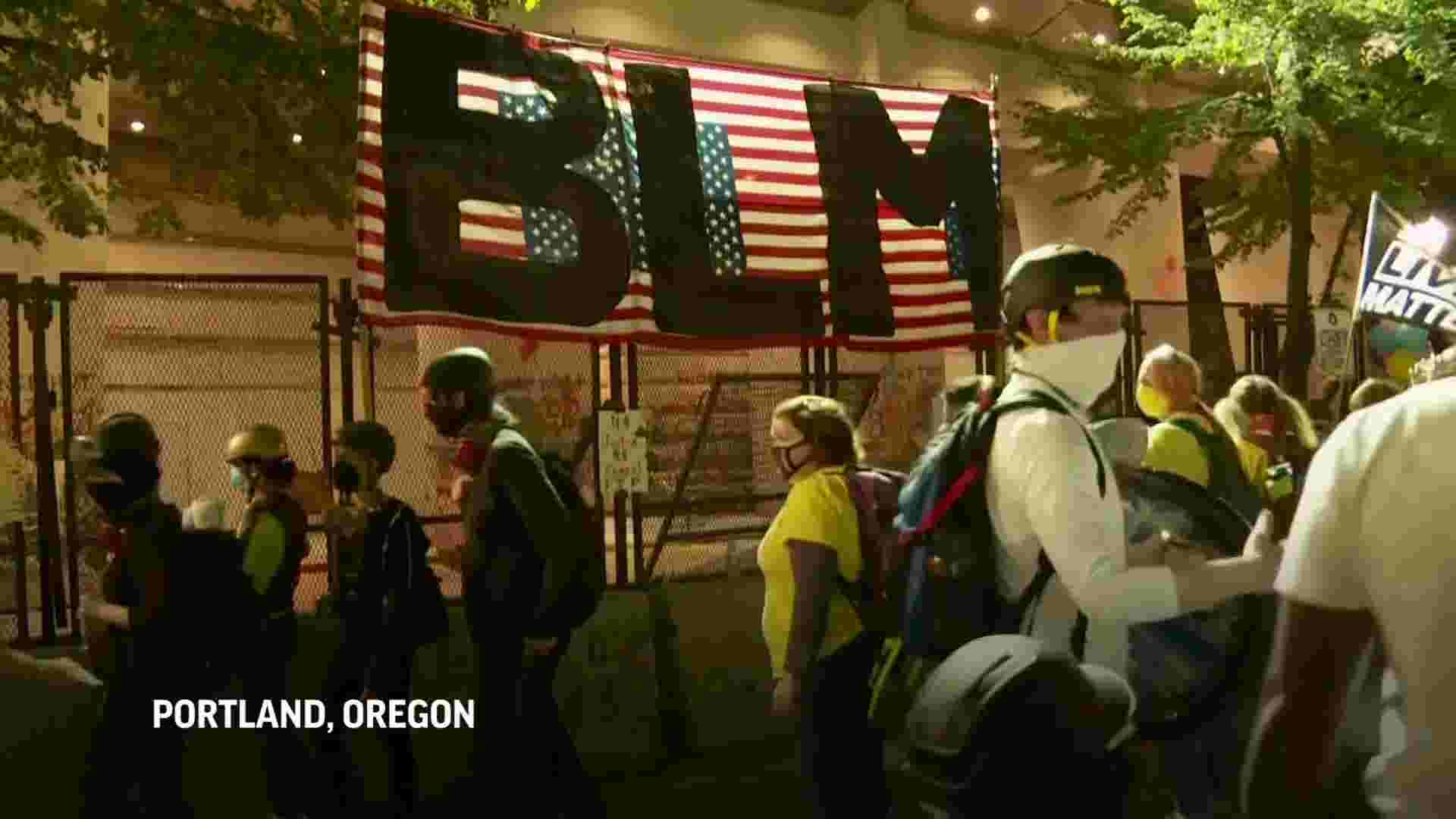 Hundreds peacefully protested in Portland 1