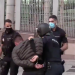 Madrid Erupts As Citizens Clash With Police During Anti-Lockdown Riots 2
