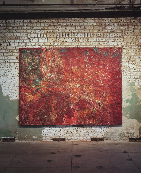 Mark Bradford Reveals New Paintings Quarantined in a Grain Tower 1
