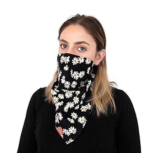 "Scough | Daisy Face Bandana | Built in Air Filtration System | 28"" x 14"""