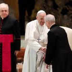 Pope Foregoes Mask, Blames 'Lady Called COVID' For Social Distancing At Audience 8