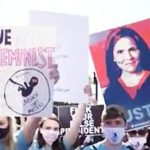 Watch: Amy Coney Barrett Supporters Block Feminist Protesters Outside the Supreme Court 7
