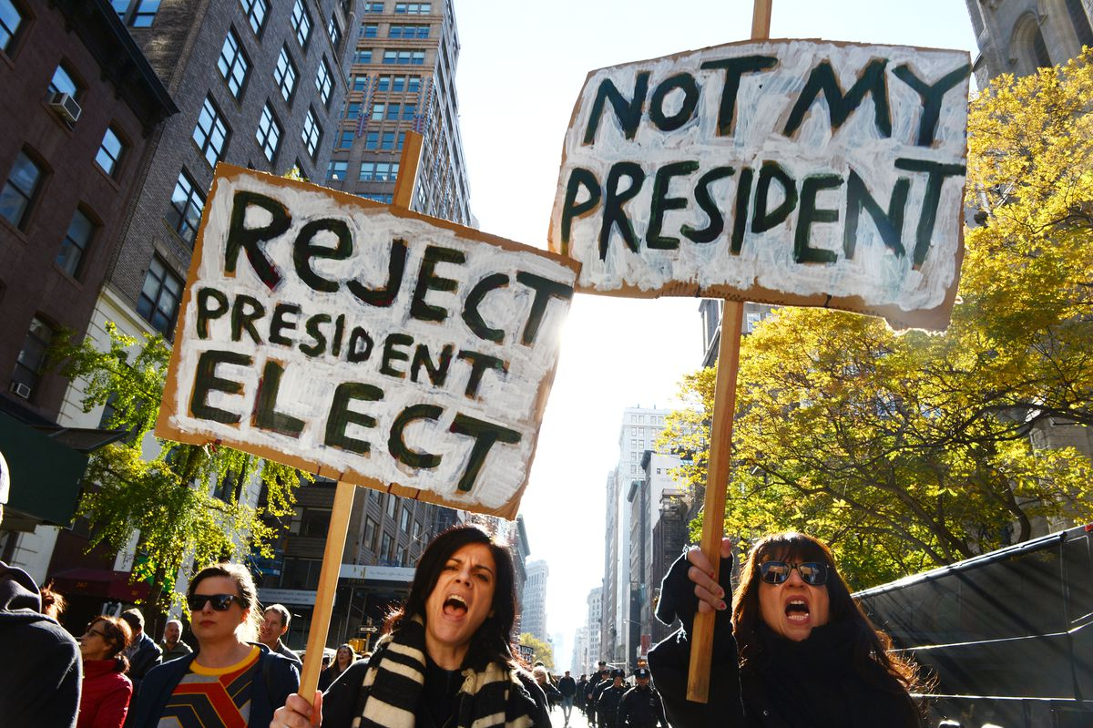 'Protests will be harder, heavier this time:' New Yorkers are girding for Election Day demonstrations 1
