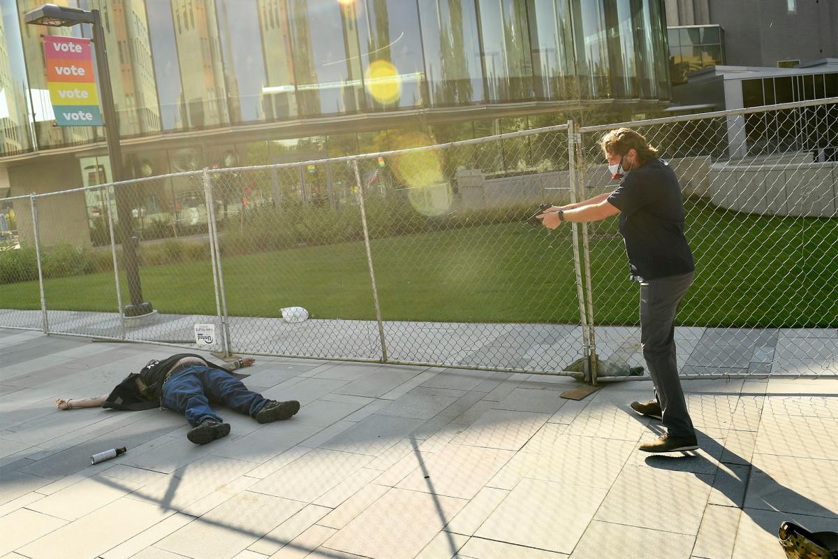 Photos capture moment Lee Keltner is shot dead amid dueling Denver protests 1