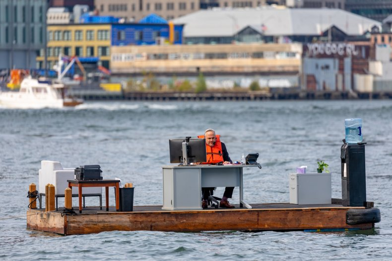 New York City's Most Socially Distant Office? It's Sitting in the Middle of the East River 1