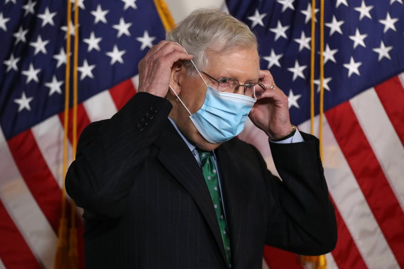 McConnell Says Trump Admin 'Paying the Price' for Lax COVID Social Distancing, Mask Wearing 1