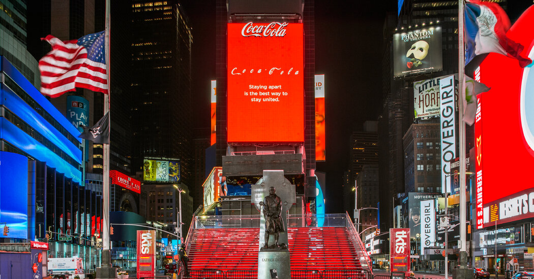 George Floyd Billboard Goes Up in Times Square 1