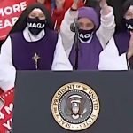MAGA mask-wearing nuns light up Twitter when people spot them behind Trump at rally 17