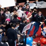 Taiwan lawmakers throw pig guts in protest over meat imports 7