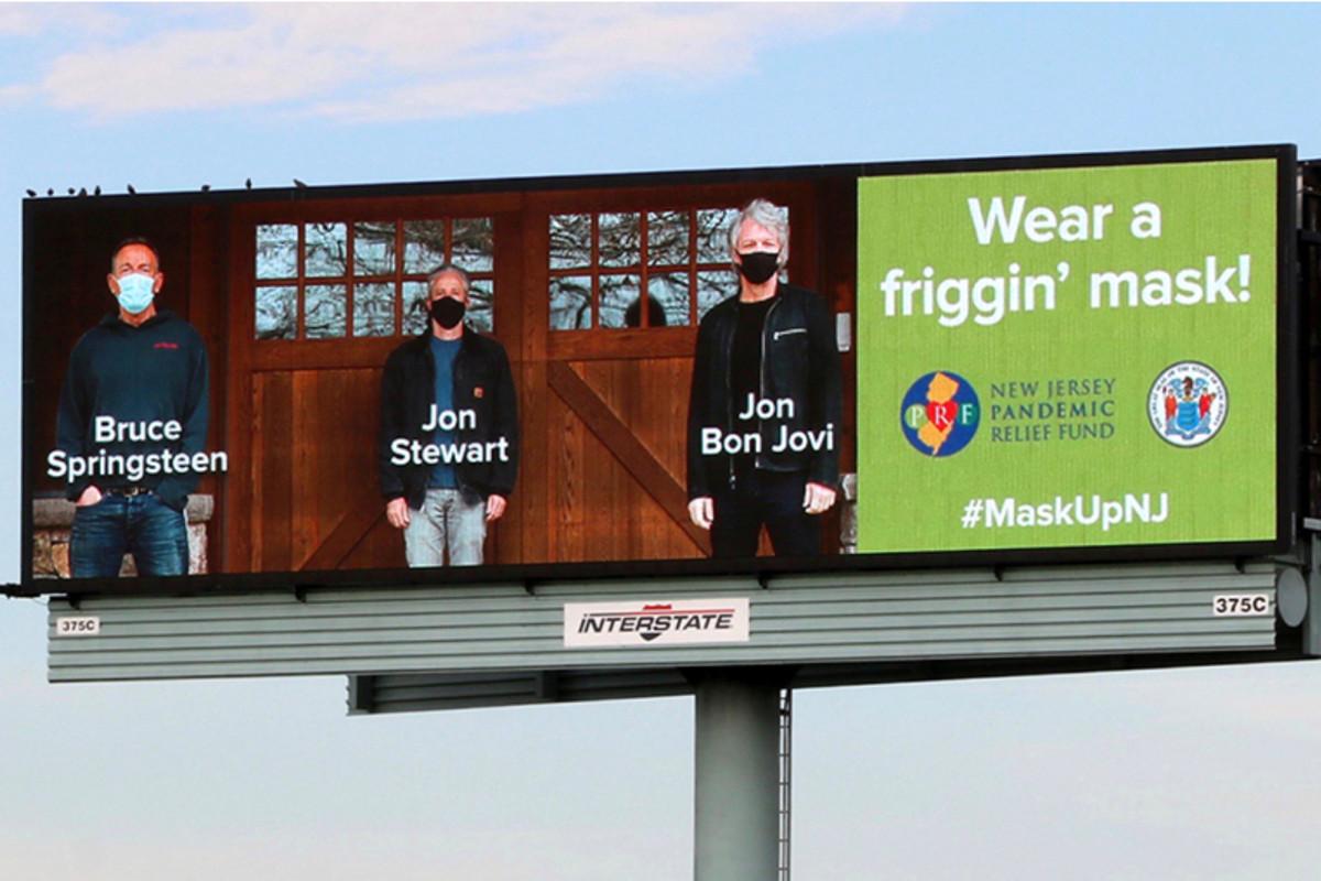'Wear a friggin' mask!': Jon Bon Jovi, Bruce Springsteen and Jon Stewart join forces 1