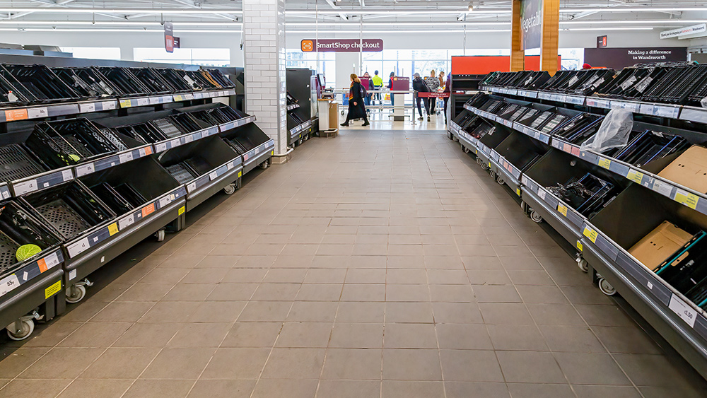 """""""Firebreak"""" lockdown in Wales sees non-essential items covered in grocery stores 1"""