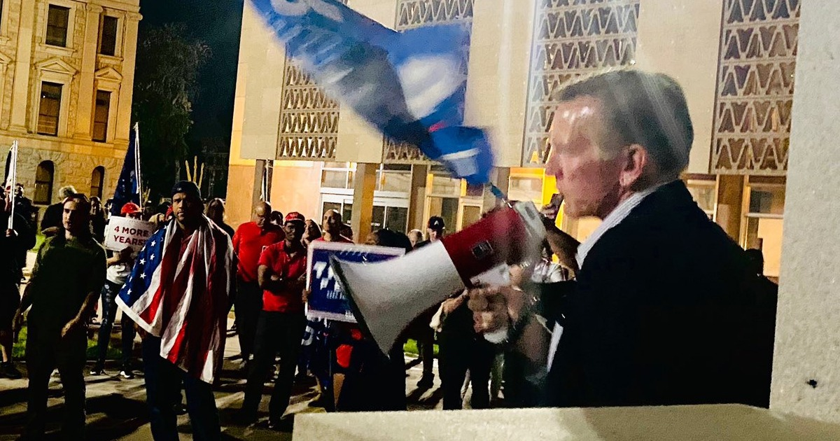 VIDEO: Rep. Gosar Joins Arizona Pro-Trump Protest, 'Biden And His Thugs' Will Not 'Steal This Election' 1