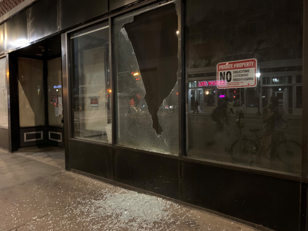 Eight arrested after protest march, night of vandalism on East Colfax Avenue in Denver 1