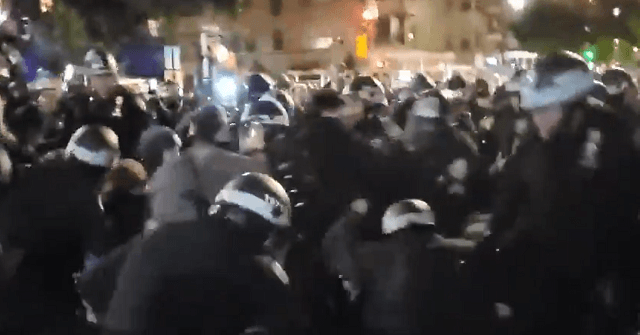 Watch: Protesters Get Violent with NYC Police 1