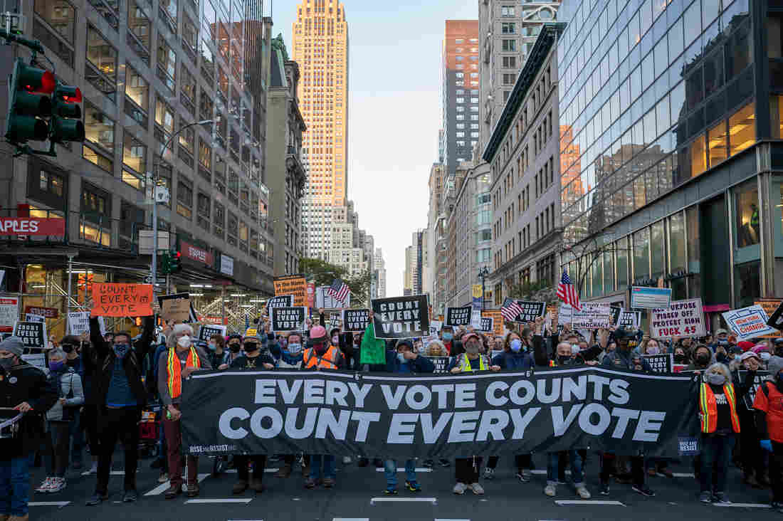 'Count Every Vote!': Large Post-Election Protests Seen In Several U.S. Cities 1