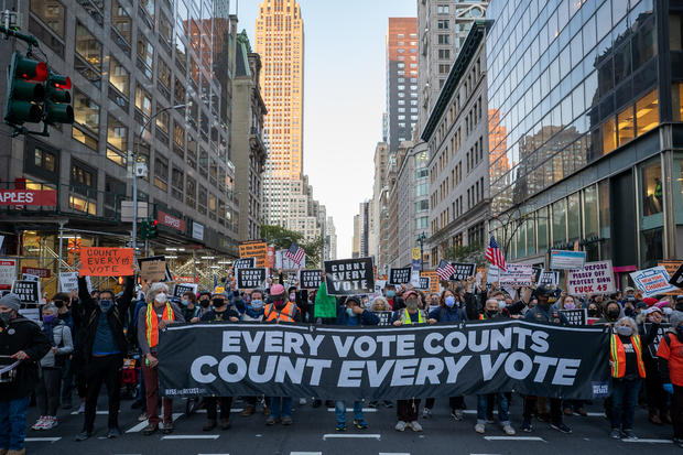 Protesters nationwide are demanding every vote be counted 1