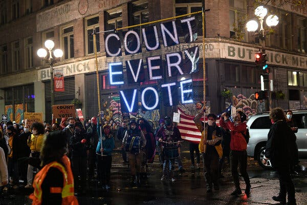 Protests Over Vote Count Sweep Through Minneapolis, Portland and Other Cities 1